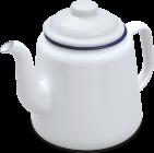 69614WH 14cm teapot shad